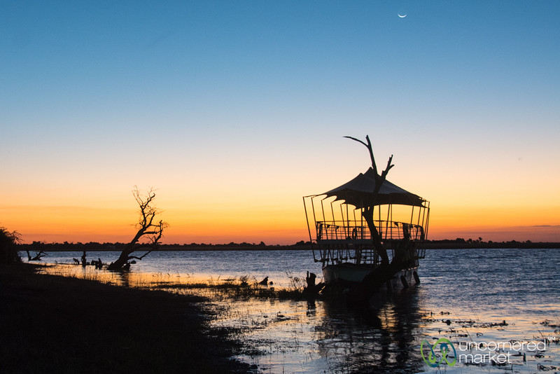 Sunset on the Chobe River - Botswana