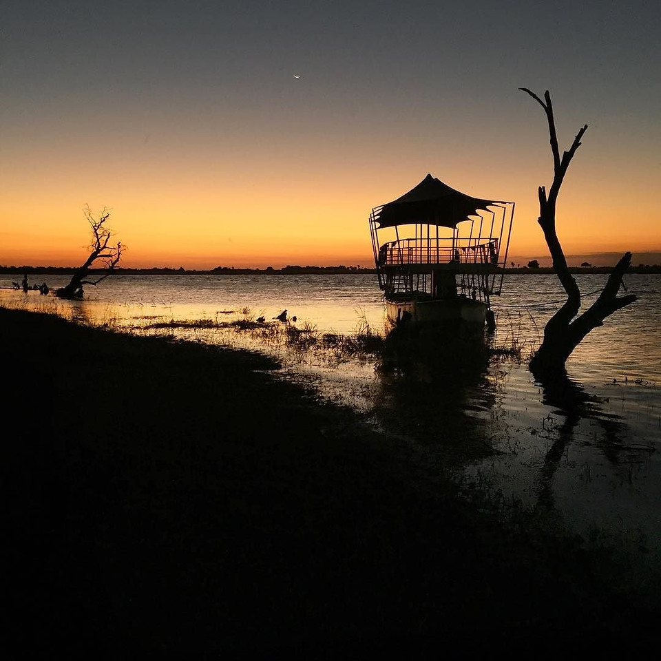 """""""I am prepared to go anywhere, provided it be forward."""" -- David Livingstone, the Victorian-era explorer of Africa whose words seem to echo across the sunset shores of the Chobe River, Botswana. #ThisIsChobe via Instagram http://ift.tt/1Udk0fz"""