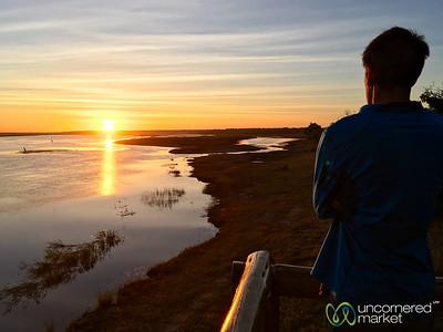 Dan at Sunrise On the Chobe River- Chobe Game Lodge, Botswana