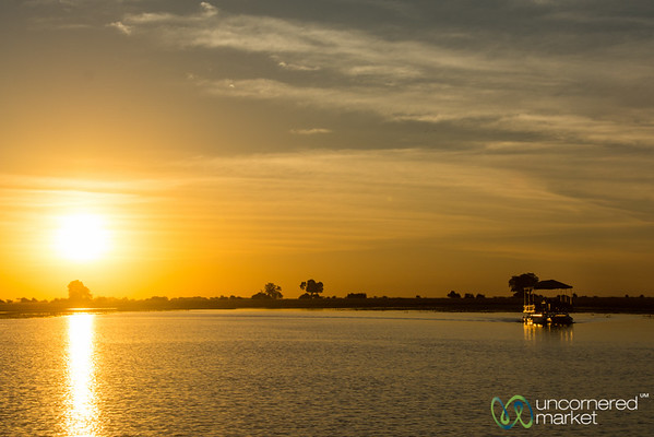 Boat Ride at Sunset Along Chobe River - Botswana