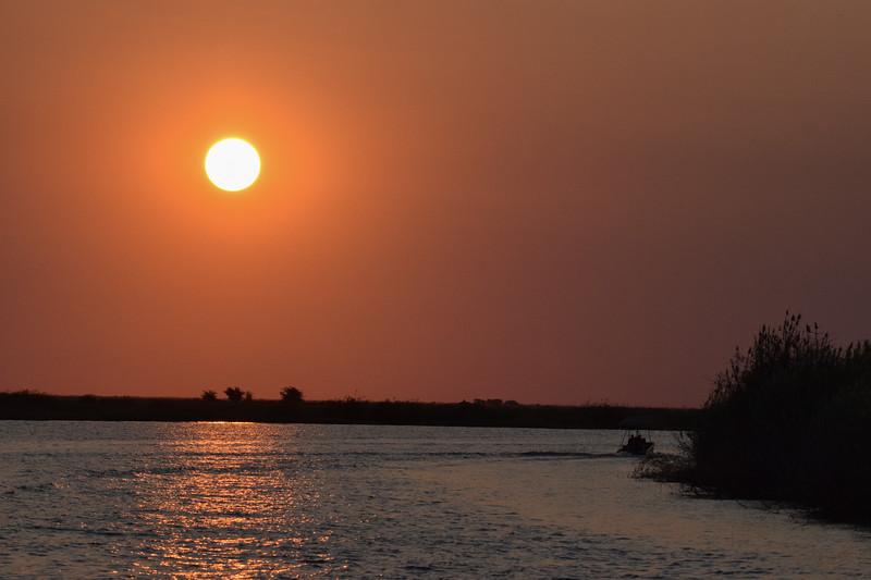 Sun set at Chobe River