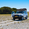 Driving through Makgadikgadi