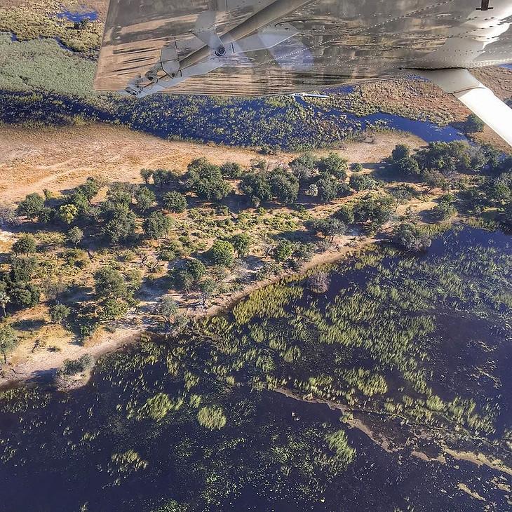 Okavango Delta from Above - Botswana