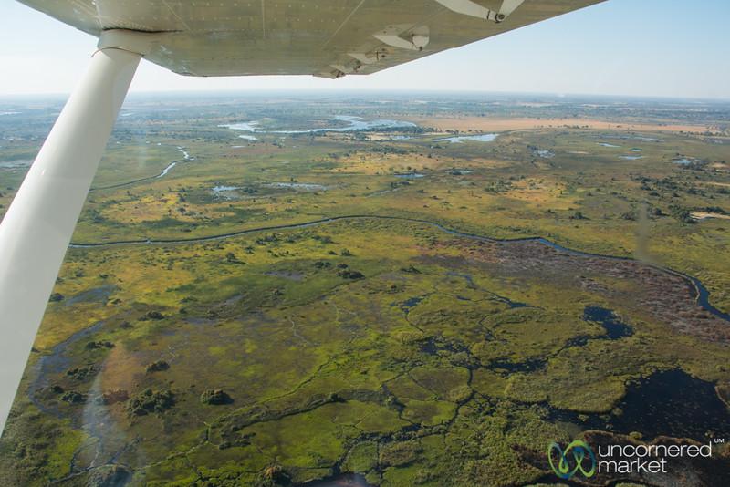 View of Okavango Delta from Above - Botswana