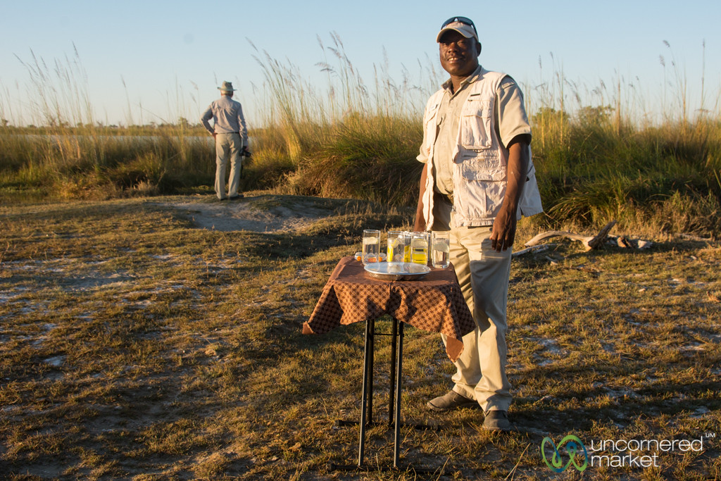 Sundowner with Conrad - Camp Xakanaxa, Botswana