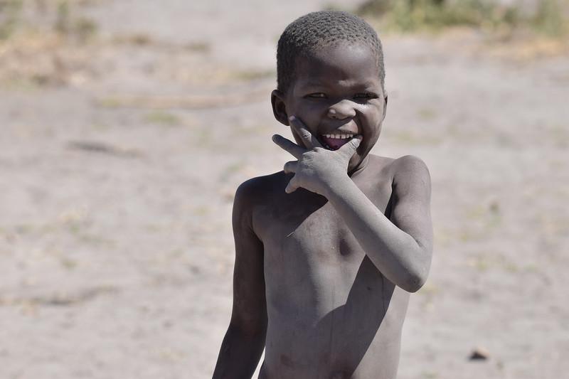 Girl from the village in Okavango Delta