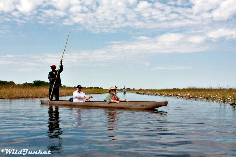 African safari with kids - mokoro ride in Botswana