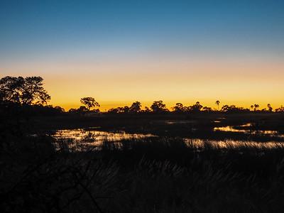 Sunset in the Okavango Delta