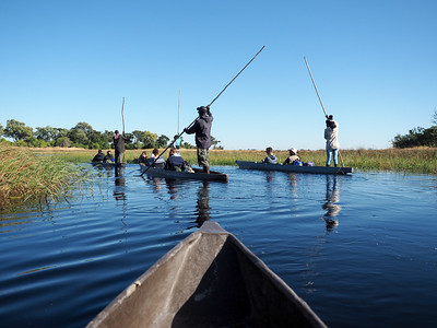 Mokoros in the Okavango Delta in Botswana