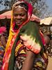 Woman and baby, Foumban market