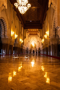 Interior of King Hassan II Mosque