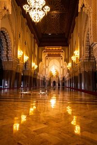 Interior of King Hassan II Mosque