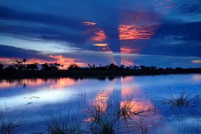 Glorious Sunset  Over River