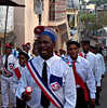 Celebration, Domoni, Anjouan.  This celebration, unrelated to the nearby wedding I had just attended, took the form of a slow march with singing.