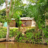Small village on side of Dzangha River, just after leaving Bayanga. Central African Republic, Congo Basin