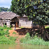 Small village on bank of Dzangha River in the CAR, on way to Bomassa in the Congo Republic.