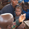 Liberian children getting measels, vitamin A and deworming vacinations in Sakomedu, near Voinjama, Lofa County,  Liberia.