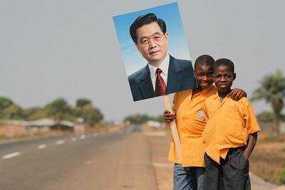 Monrovia, Liberia - Chinese president Hu visits Liberia
