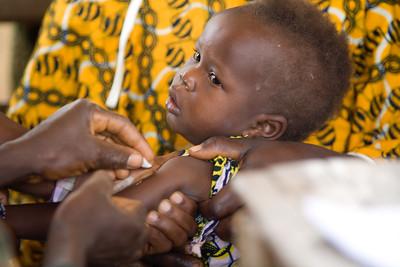 Liberian children getting measels, vitamin A and deworming vacinations in Sakomedu, near Voinjama, Lofa County,  Liberia.