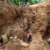 UNMIL Photo/Christopher Herwig,  February 9, 2009: Gold Mining at Weajue Town near Lofa Bridge, Liberia