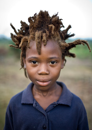 Liberian Boy with wild hair