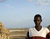 Afar man, Lac Abbe, Djibouti
