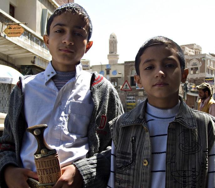 Boys, Sanaa, Yemen