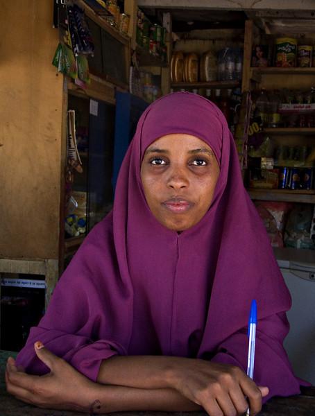 Woman, Djibouti City, Djibouti.  It's very seldom a woman allows a strange man to take her photo in these parts...