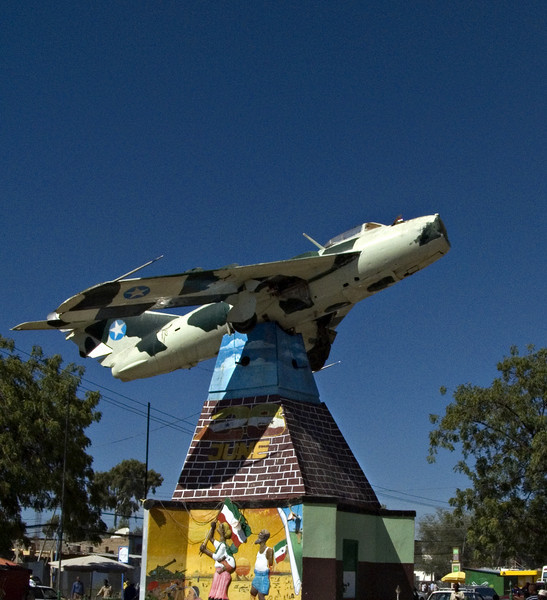 Monument, Hargeisa, Somaliland.  This is an Ethiopian plane that was shot down.