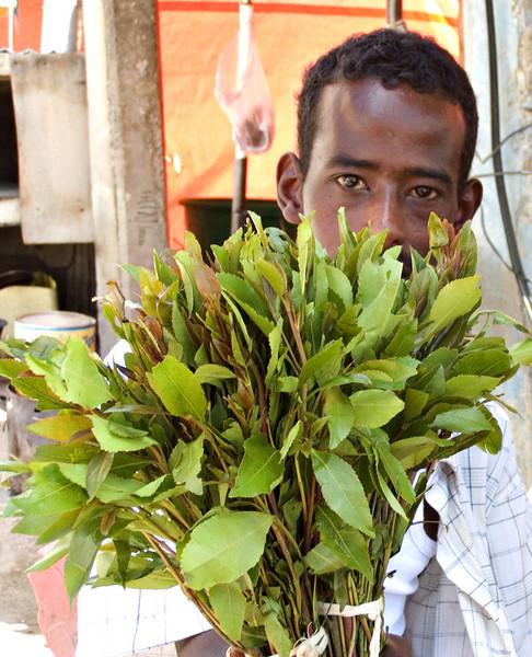 Qat seller, Hargeisa, Somaliland