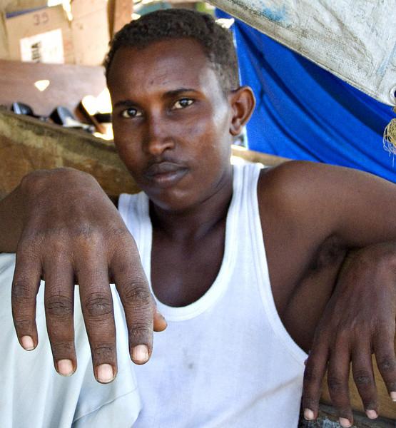 Afar man, Djibouti City, Djibouti.  This Afar man had sharpened his teeth but he didn't smile for the photo.