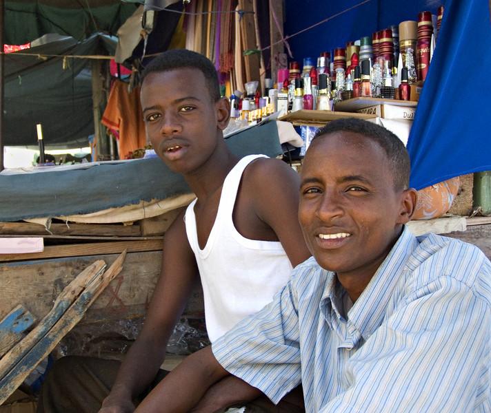 Man and boy, Djibouti City, Djibouti
