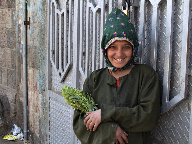 Girl, Sanaa, Yemen