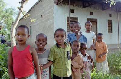 Children at Mtu Wa Mbu village