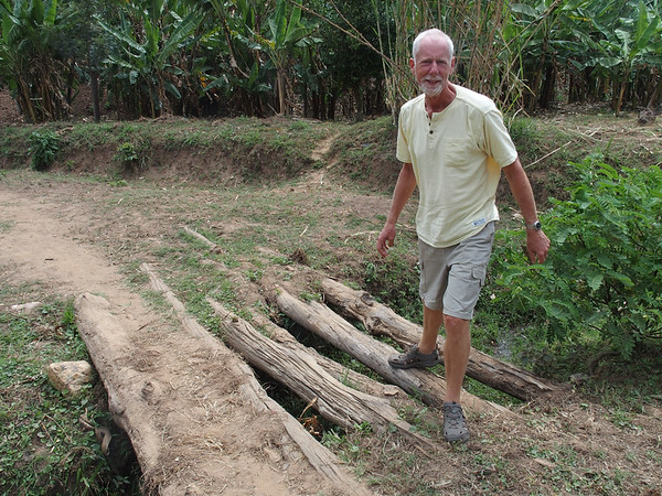 Improvised bridge on the Congo-Nile trail.  It will take a 3 tonne cruiser for sure...