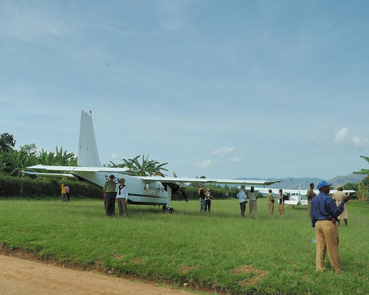 Landing at Kayonza Air Strip