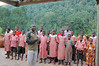 The head of the Bwindi Orphans introduces the Dance group