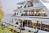 Loading for a sunset cruise on the Zambezi River on board the Lady Livingstone