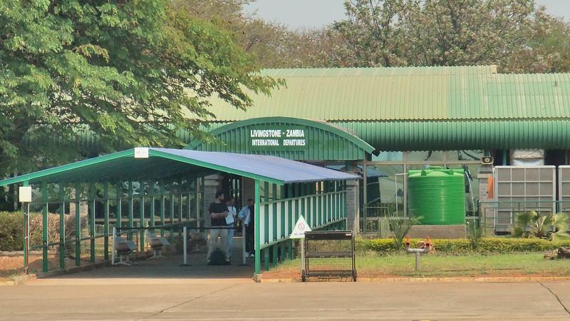 We enter Zambia at Livingstone