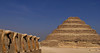 Uraei and Step Pyramid, Saqqara