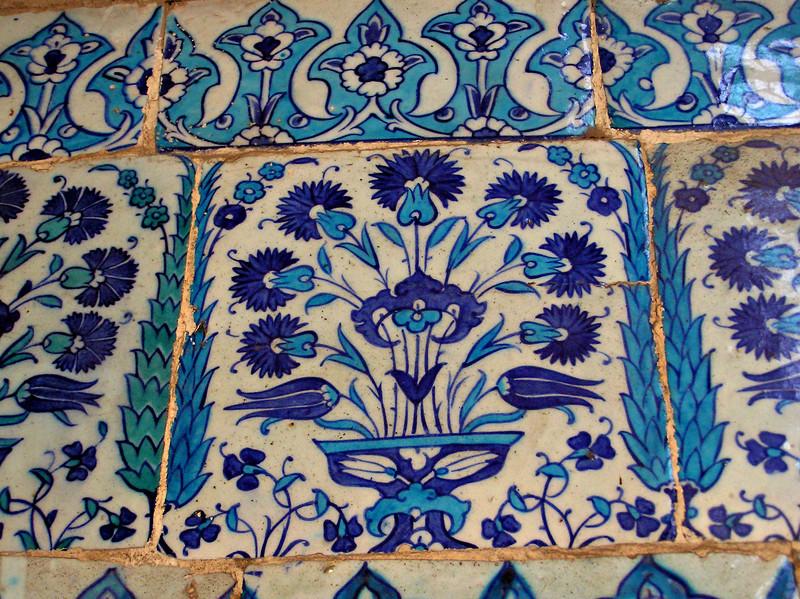 Tiles, Mosque of Emir Aqsunqur (Blue Mosque), Cairo