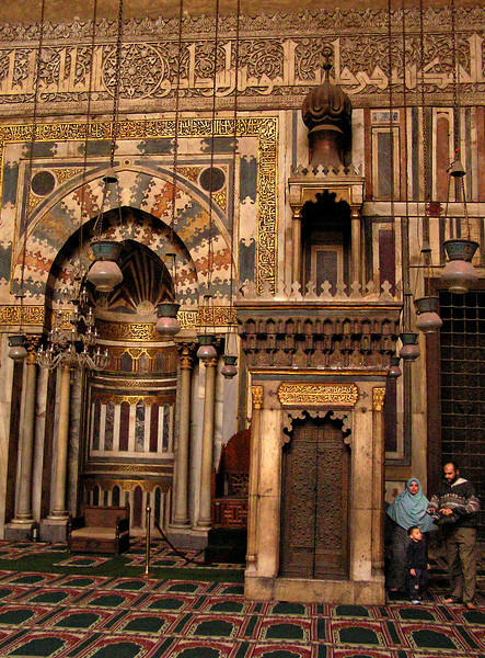 Mihrab and minbar, Sultan Hassan Mosque, Cairo