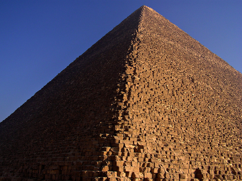 Pyramid of Khufu (Cheops), Giza.  With only part of a day in the north before taking the train to Luxor, Giza and Saqqara fit the bill.