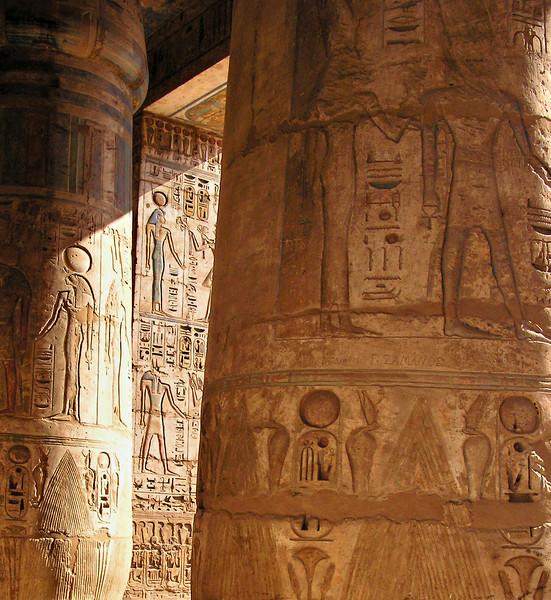 Peristyle hall, Medinat Habu, Luxor
