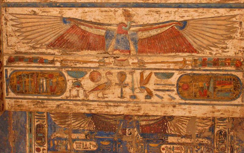 Gateway ceiling, Medinat Habu, Luxor