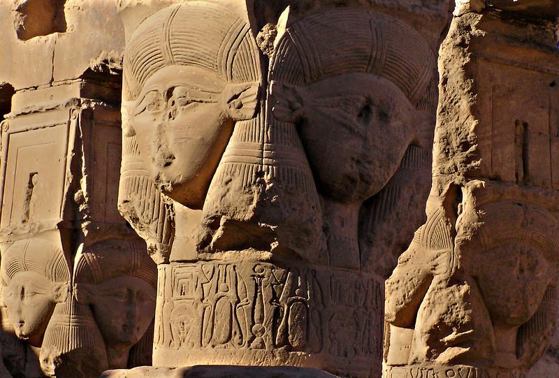 Hathor images, Dendera
