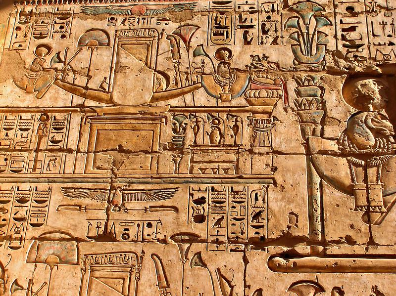 Reliefs, Medinat Habu, Luxor