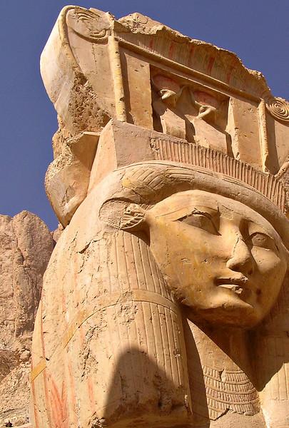 Hathor image, Deir el Bahri, Luxor