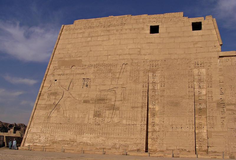 Pylon, Medinat Habu, Luxor