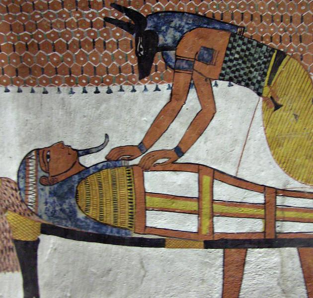 Anubis tending the dead, Deir al-Medina, Luxor West Bank